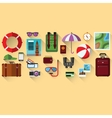 Flat concept of planning a summer vacation vector image