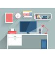 Flat design concept of modern home or busine vector image
