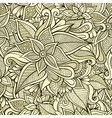 floral ornamental seamless pattern vector image vector image