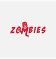 fun and simple word mark zombie logo icon vector image