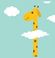 giraffe with spot zoo animal long neck cute vector image