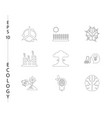 Green ecology and environment icon set in format
