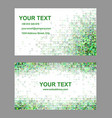 Green triangle mosaic business card template vector image vector image