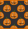 halloween seamless pattern with funny pumpkins vector image