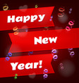 happy new year background calendar template vector image