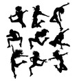 Hip Hop Activity and Action Silhouettes vector image vector image