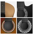 icon of some types guitar vector image vector image
