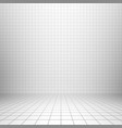 interior backdrop with grid vector image vector image