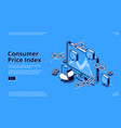landing page consumer price index vector image
