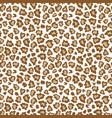 leopard skin fur print brown seamless pattern vector image