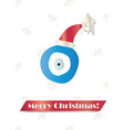 merry christmas card with blue evil eye vector image