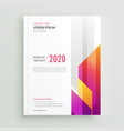 modern colorful business brochure design vector image