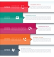 modern minimalistic infographics template vector image vector image