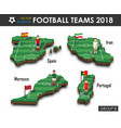national soccer teams 2018 group b vector image