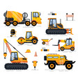 off-road car tractor and forklift build vector image vector image