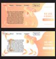 orange concise hiring web banner vector image vector image