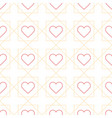 outline heart seamless pattern with creative vector image vector image