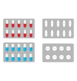 Packs of pills vector image
