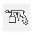 paint gun icon vector image vector image