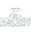 pregnancy yoga - modern line design style web vector image