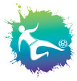 professional soccer player in action vector image