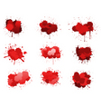 red ink blobs vector image vector image