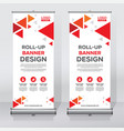roll up banner design print template vector image