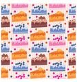 seamless cake pattern vector image vector image