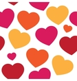 seamless pattern with hand paint hearts vector image vector image