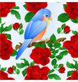 seamless texture small songbirdon bluebird vector image vector image