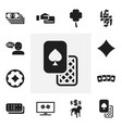 set of 12 editable excitement icons includes vector image vector image