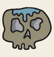 skull in a vintage retro hand drawn woodcut vector image vector image