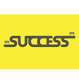 Start to finish Success road on yellow background vector image