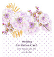 vintage floral card beautiful dotted background vector image vector image