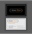 vintage luxury and clean business card template vector image vector image