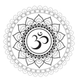 Om Sanskrit symbol with mandala ornament vector image