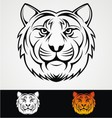 Tiger Head Tribal Mascot vector image