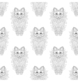 Fluffy Cat seamless pattern zentangle style vector image