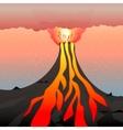 an active volcano vector image