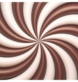 Abstract chocolate and cream background vector image vector image