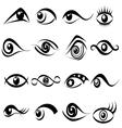 Abstract eye symbol set vector image