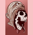anatomy head skull coming out face vector image vector image