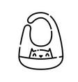 baby apron icon design clip art line icon style vector image vector image