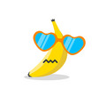 banana face cartoon with emotion vector image vector image