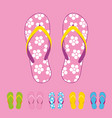 beach flip flops summer trip vacation vector image