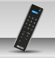 black tv remote control technology isolated vector image vector image