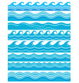 blue wave patterns vector image vector image