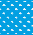 cap pattern seamless blue vector image vector image