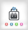 car battery vector image