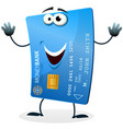 cartoon credit card character vector image vector image